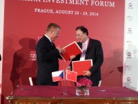 捷克及中国领导在2014地方领导人会议/中国投资论坛期间签署重要备忘录